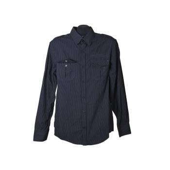 Рубашка мужская черная в полоску RJ, М