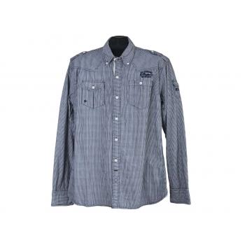 Рубашка мужская серая в полоску MILLS BROTHERS, М