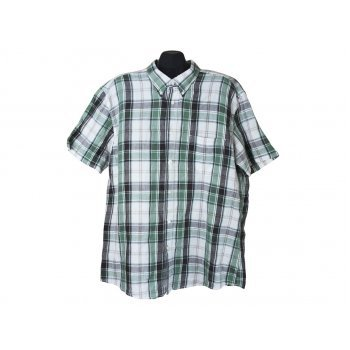 Мужская льняная рубашка в клетку BIAGGINI, XL