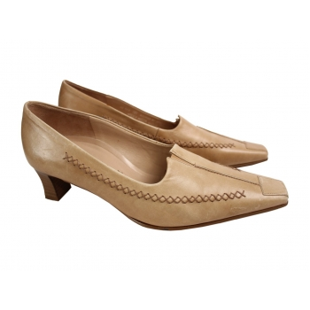 Женские бежевые кожаные туфли GABOR 38 размер