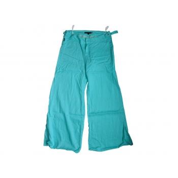 Женские голубые расклешенные брюки из рами WATCHER