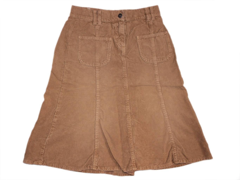 Женская вельветовая юбка трапеция BENETTON, XXS
