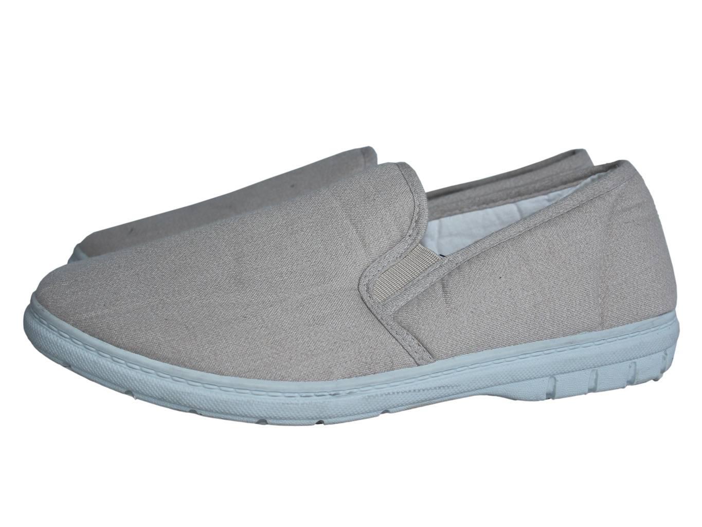Мужские бежевые тканевые туфли 42 размер