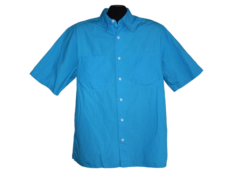 Мужская синяя рубашка DKNY, L