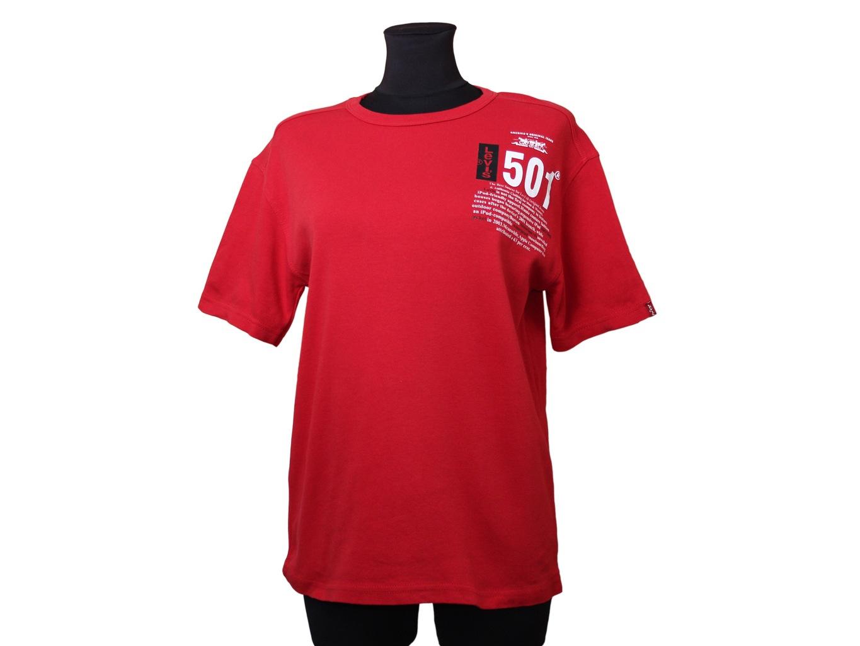 Футболка женская красная LEVIS 501, XL