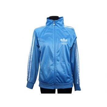 Женская голубая спортивная мастерка на молнии ADIDAS, S