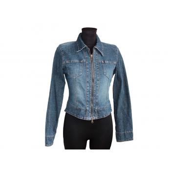 Женская синяя джинсовая куртка MОTO, S