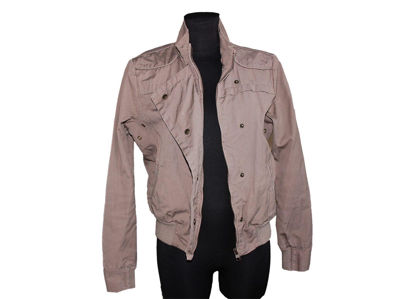 Женская коричневая куртка весна осень MOTO, M