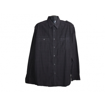 Мужская черная рубашка MARKS & SPENCER AUTOGRAPH, L