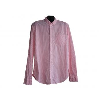 Мужская розовая рубашка в полоску L.O.G.G by H&M, M