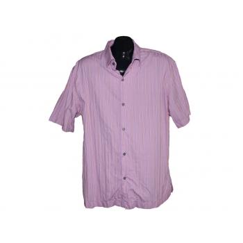 Мужская розовая рубашка в полоску PAUL SMITH, L