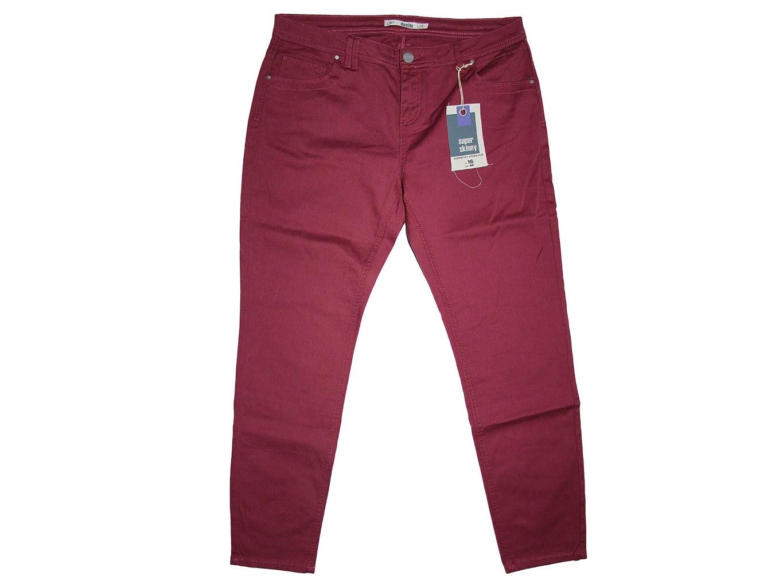 Женские бордовые зауженные джинсы skinny DOROTHY PERKINS, XL