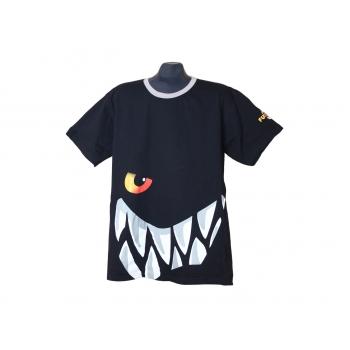 Мужская черная футболка с прикольным рисунком, XL