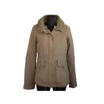 Женское пальто болотного цвета евро зима H&M, S