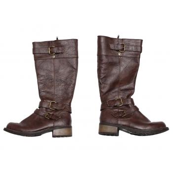 Женские демисезонные коричневые сапоги STOMPERS 37 размер