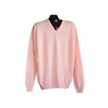Пуловер шерстяной розовый мужской MARKS & SPENCER, XL