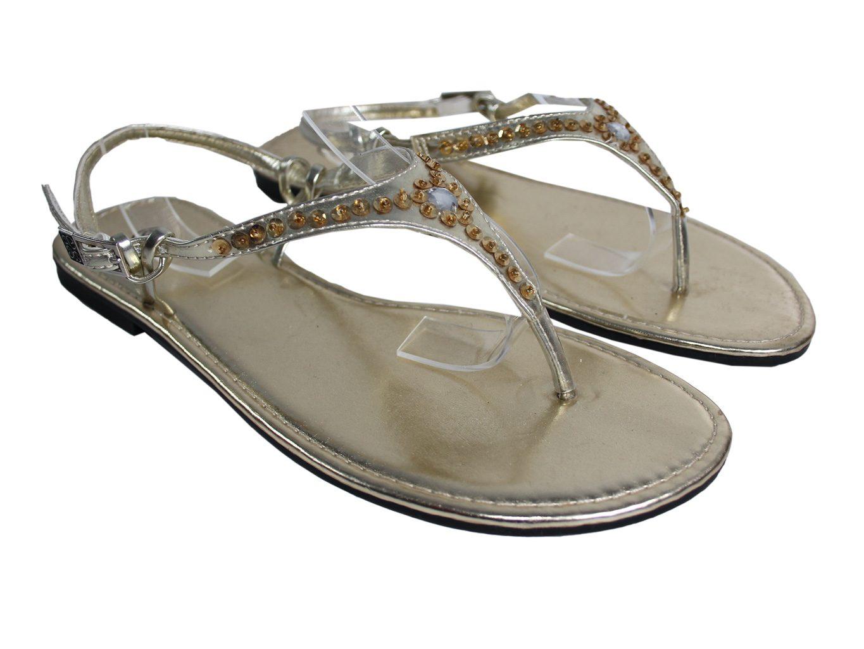 Женские золотистые сандалии с пайетками 38 размер