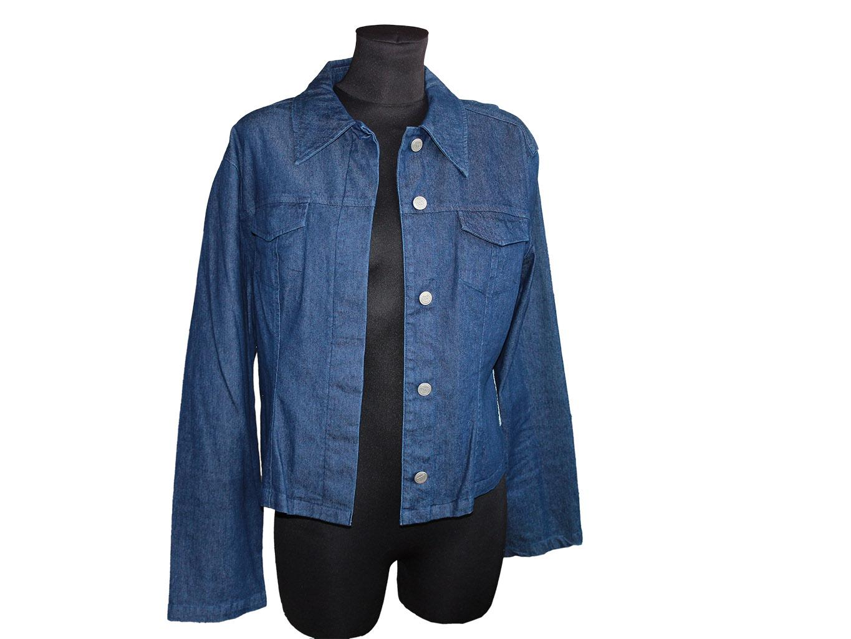 Женская синяя джинсовая куртка IN WEAR, XL