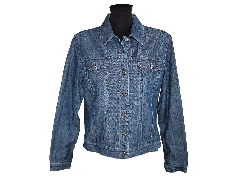 Женская синяя джинсовая куртка TRADER, М