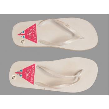 Женские белые пляжные вьетнамки MATALAN STYLE 39 размер