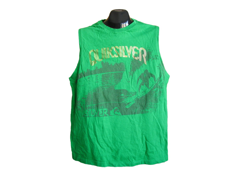 Мужская зеленая футболка безрукавка QUIKSILVER, M