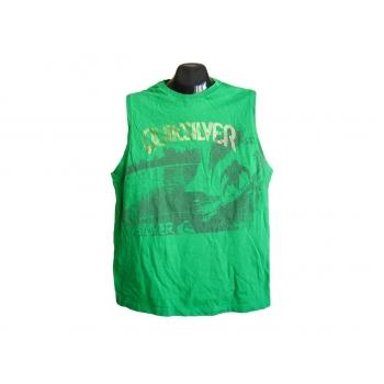 Мужская зеленая футболка безрукавка QUIKSILVER