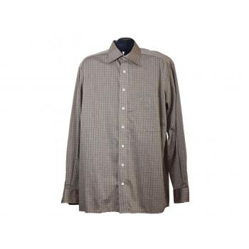 Мужская бежевая рубашка в клетку ETERNA, L