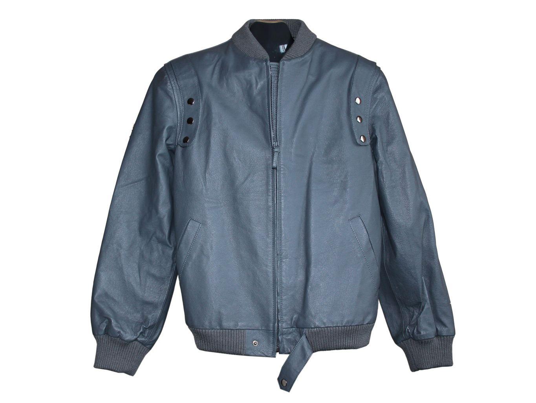 Мужская серая кожаная куртка PEOPLE`S MARKET, L