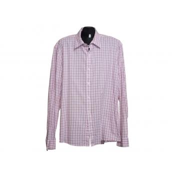 Мужская розовая рубашка в клетку ESPRIT, XL