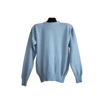 Мужской голубой шерстяной свитер, XL