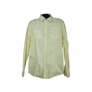 Мужская желтая приталенная рубашка LEE COOPER, М