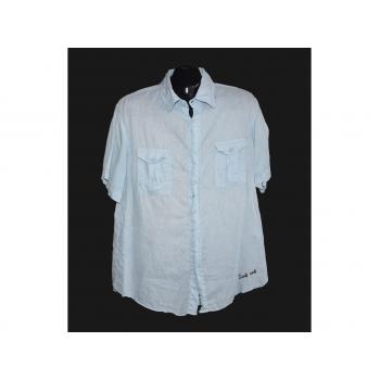 Мужская голубая льняная рубашка SOUL CALIFORNIA, L