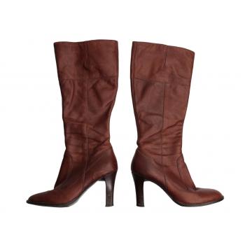 Женские коричневые кожаные сапоги осень весна RIVER ISLAND 37 размер