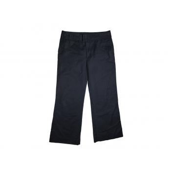 Женские черные широкие брюки ZARA, М