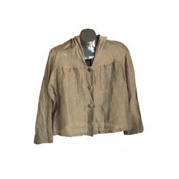 Женская коричневая льняная куртка SYNDICATE, M