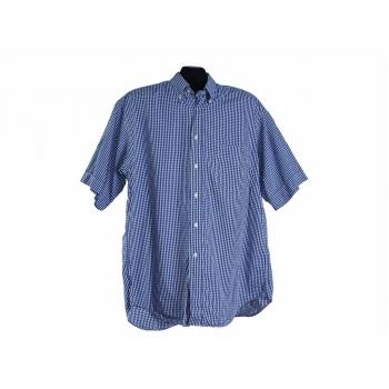 Мужская синяя рубашка в клетку BRITISH HOUSE