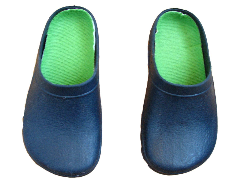 Детские синие шлепки кроксы на мальчика 2-5 лет