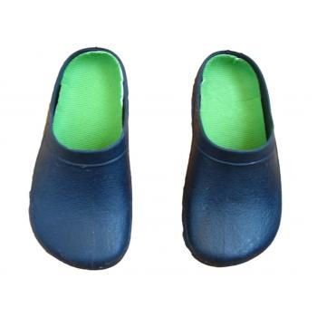 Детские синие шлепки кроксы