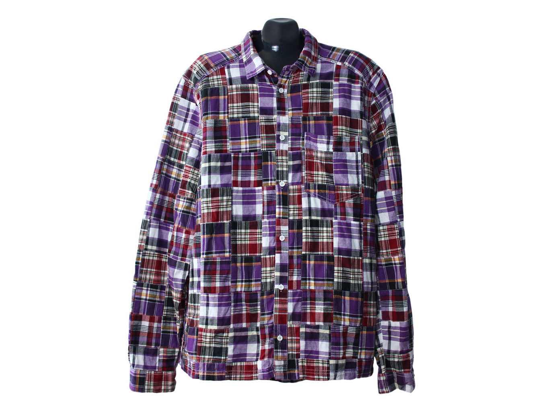 Мужская рубашка в клетку H&M, XL