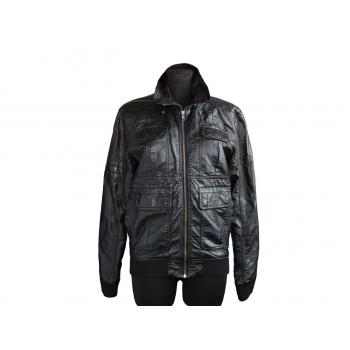 Женская черная кожаная куртка H&M, L