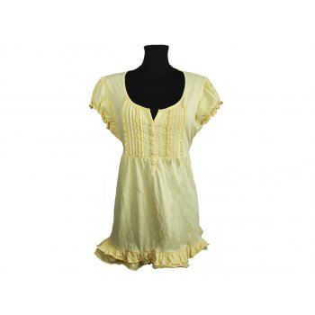Блуза женская желтая с рюшами PAPAYA