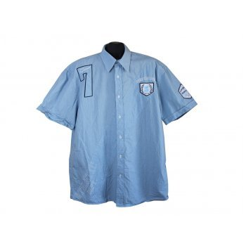 Рубашка мужская голубая в полоску TIM MOORE, XL