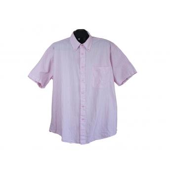 Рубашка мужская розовая в полоску PORTONOVA, XXL