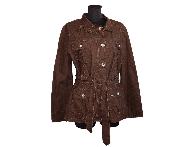 Женская коричневая куртка осень весна YESSICA, XXL