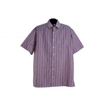 Мужская красная рубашка в полоску ATLANT, XL