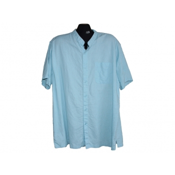 Мужская голубая льняная рубашка COTTON TRADERS, XL