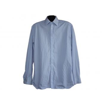 Мужская голубая рубашка в полоску MARKS & SPENCER AUTOGRAPH, L