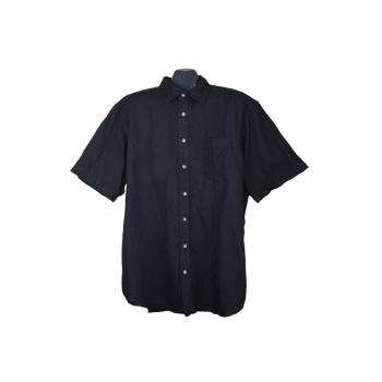 Мужская черная льняная рубашка CANDA, XXL