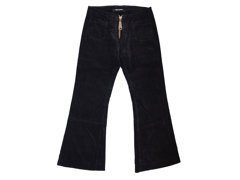 Женские черные велюровые брюки TALLY WEIJL