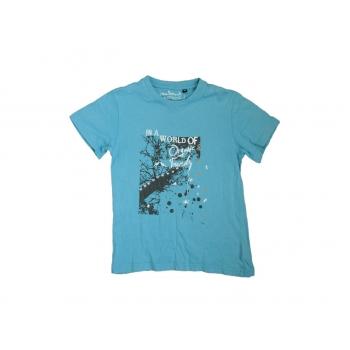 Голубая футболка на мальчика 4-6 лет